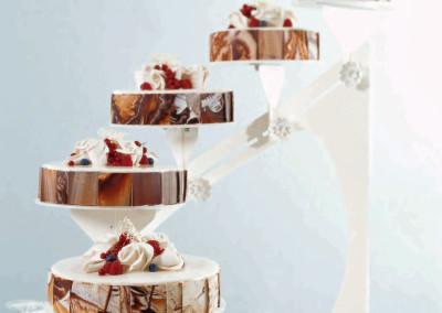 Eksempel på marmorerte sjokoladebrikker